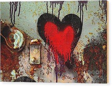 Fanatic Heart Wood Print by Lauren Leigh Hunter Fine Art Photography