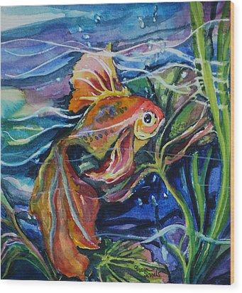 Fanciful Fish Wood Print
