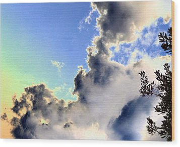 Wood Print featuring the photograph Fanciful Sky by Jim Whalen