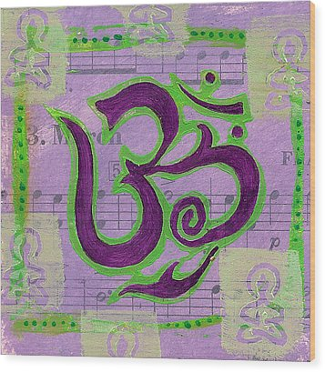 Fancy Om Whisper Buddhas Wood Print