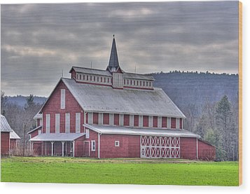 Fancy Red Barn Wood Print