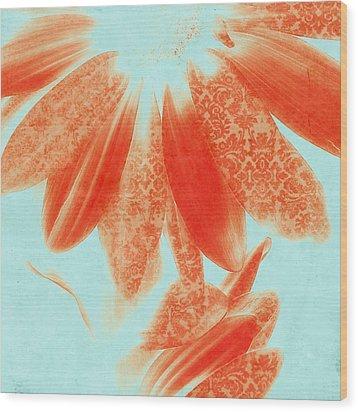 Fancy Schmancy Gerberas Wood Print by Bonnie Bruno