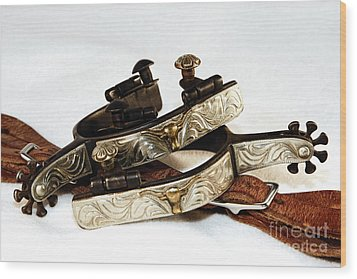 Wood Print featuring the photograph Fancy Silver Spurs by Lincoln Rogers