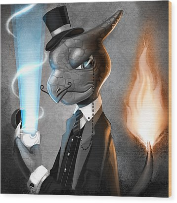Fancy With Fire Wood Print by Michael Myers