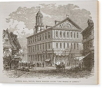 Faneuil Hall, Boston, Which Webster Wood Print by American School