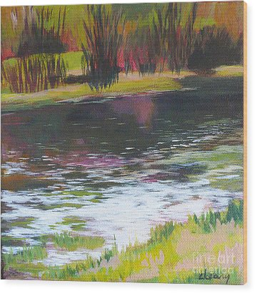 Fanno Creek Beaverton Wood Print by Melody Cleary