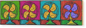 Fans In A Row Wood Print by Dale Moses