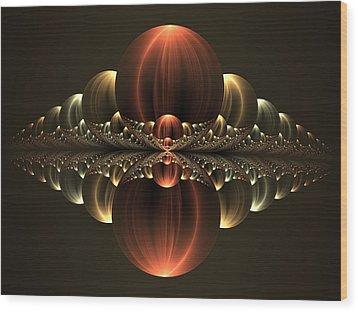 Wood Print featuring the digital art Fantastic Skyline by Gabiw Art