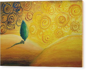 Fantasy Art - Lonely Tree Wood Print by Nirdesha Munasinghe