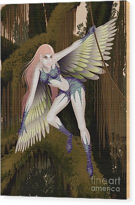 Fantasy Fairy2 Wood Print by Kriss Orayan