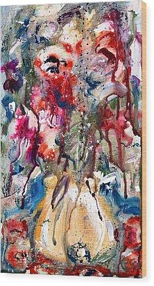Fantasy Floral 2 Wood Print by Carole Goldman