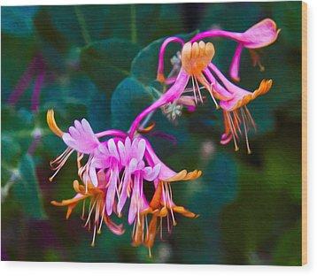 Fantasy Flowers Wood Print by Omaste Witkowski