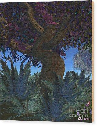Fantasy Garden Wood Print by Susanne Baumann