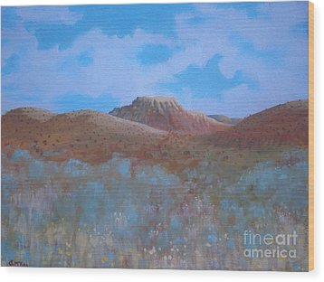 Fantasy Hills Wood Print by Suzanne McKay