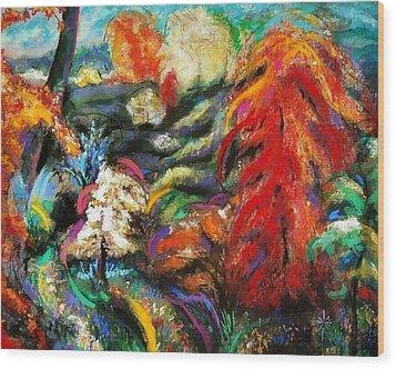 Fantasy Landscape Wood Print by Jodie Marie Anne Richardson Traugott          aka jm-ART