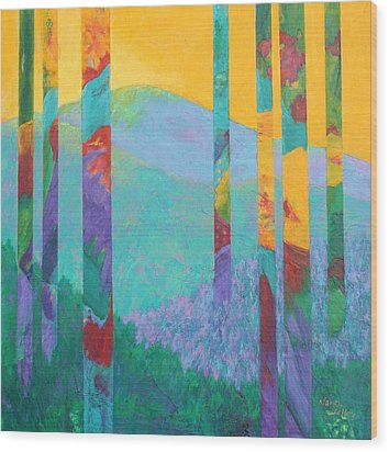 Fantasy Ridge Wood Print