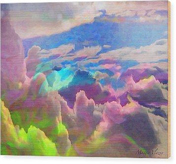 Abstract Fantasy Sky Wood Print