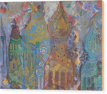 Fantasy Square Wood Print by Norma Malerich