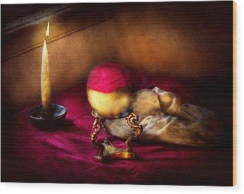 Fantasy - The Crystal Ball Wood Print by Mike Savad