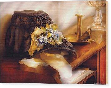 Fantasy - The Widows Bonnet  Wood Print by Mike Savad