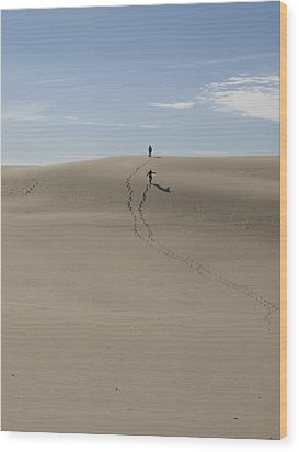 Wood Print featuring the photograph Far Away In The Sand by Tara Lynn