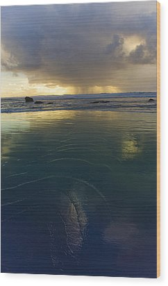 Wood Print featuring the photograph Faraway Rain by Adria Trail