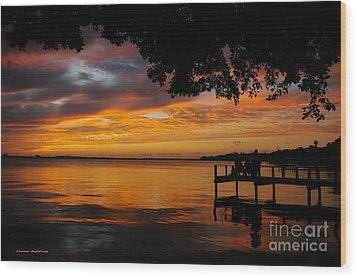 Wood Print featuring the photograph Farewell Sunset by Tannis  Baldwin