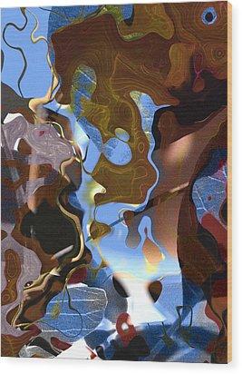 Wood Print featuring the digital art Fargo by Richard Thomas