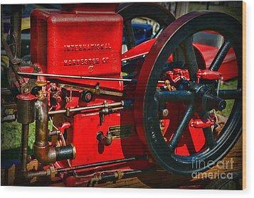 Farm Equipment - International Harvester Feed And Cob Mill Wood Print by Paul Ward