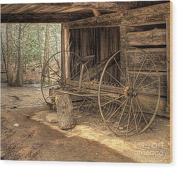 Farm Equipment Wood Print