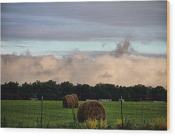 Farm Field Drama Wood Print by Dan Sproul
