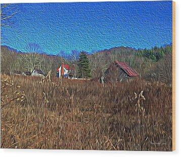 Farm House 2 Wood Print