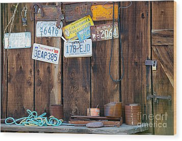 Wood Print featuring the photograph Farm Shed Memories by Vinnie Oakes