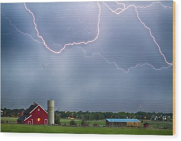 Farm Storm Hdr Wood Print by James BO  Insogna