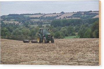 Farm Tractor Wood Print by John Williams