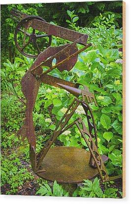 Farm Worker Wood Print by Carolyn Marshall