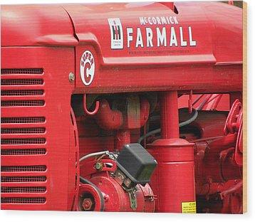 Farmall Wood Print by Jewels Blake Hamrick