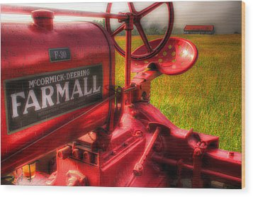 Farmall Morning Wood Print by Michael Eingle