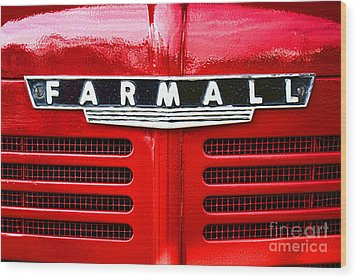 Farmall Wood Print by Olivier Le Queinec