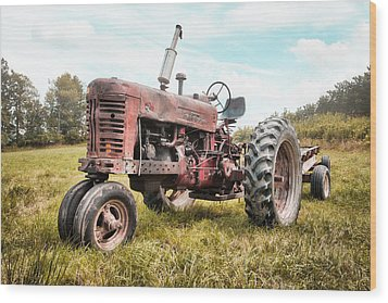Farmall Tractor Dream - Farm Machinary - Industrial Decor Wood Print