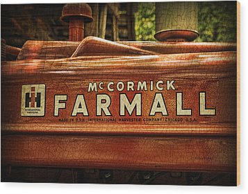 Farmall Tractor Wood Print by Kenny Francis