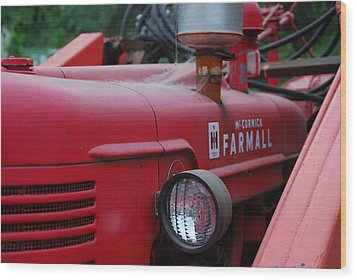 Farmall Tractor Wood Print by Ron Roberts