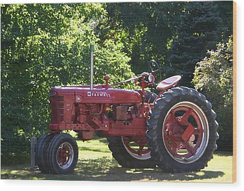 Farmall's End Of Day Wood Print by Denyse Duhaime