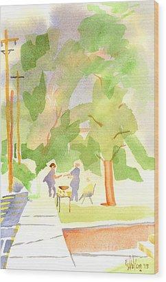 Farmers Market Vll Wood Print by Kip DeVore