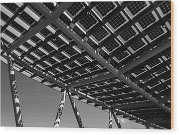 Wood Print featuring the photograph Farming The Sun - Architectural Abstract by Steven Milner