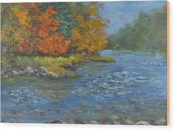 Farmington River Fall Wood Print