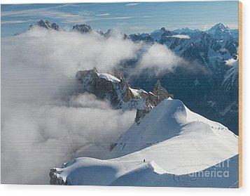 Fascinating Alpine World Chamonix Wood Print