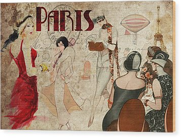 Fashion In Paris Wood Print