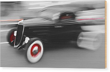 Fast Ford Hot Rod Wood Print by Phil 'motography' Clark