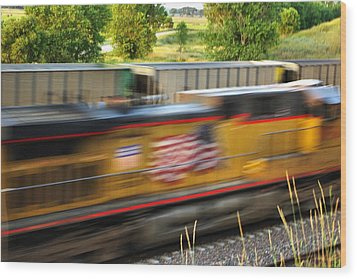 Wood Print featuring the photograph Fast Train by Bill Kesler